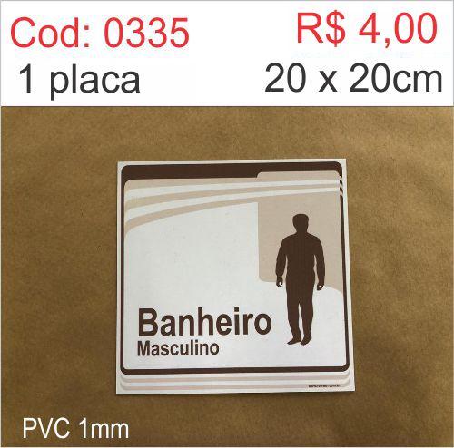 Saldão - Placa Banheiro Masculino  - Towbar Sinalização de Segurança