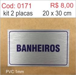 Saldão - Placa Banheiros  - Towbar Sinalização de Segurança