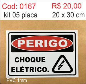Saldão - Placa Perigo Choque Elétrico   - Towbar Sinalização de Segurança