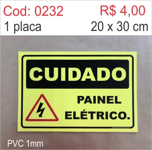 Saldão - Placa Cuidado Painel Elétrico  - Towbar Sinalização de Segurança