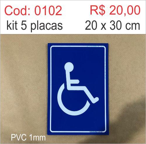 Saldão - Placa Deficiente Físico  - Towbar Sinalização de Segurança