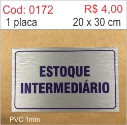 Saldão - Placa Estoque Intermediário  - Towbar Sinalização de Segurança