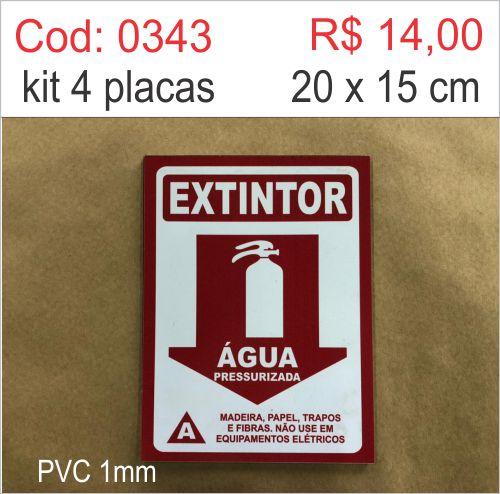 Saldão - Placa Extintor Água  - Towbar Sinalização de Segurança