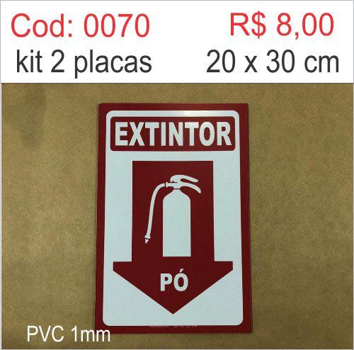 Saldão - Placa Extintor Pó  - Towbar Sinalização de Segurança