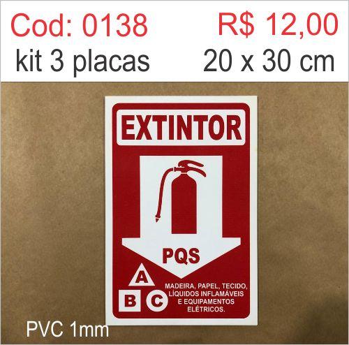 Saldão - Placa Extintor PQS  - Towbar Sinalização de Segurança