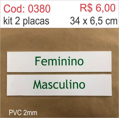 Saldão - Placa Feminino e Masculino  - Towbar Sinalização de Segurança
