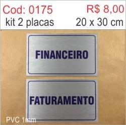 Saldão - Placa Financeiro e Faturamento  - Towbar Sinalização de Segurança