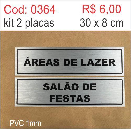 Saldão - Placa Identificação Áreas de Lazer e Salão de Festa  - Towbar Sinalização de Segurança