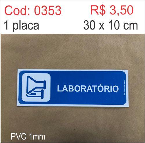 Saldão - Placa Identificação Laboratório  - Towbar Sinalização de Segurança