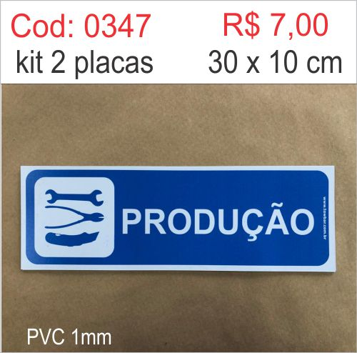 Saldão - Placa Identificação Produção  - Towbar Sinalização de Segurança