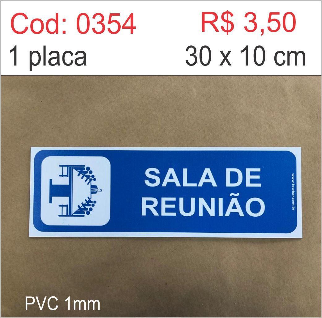 Saldão - Placa Identificação Sala de Reunião  - Towbar Sinalização de Segurança