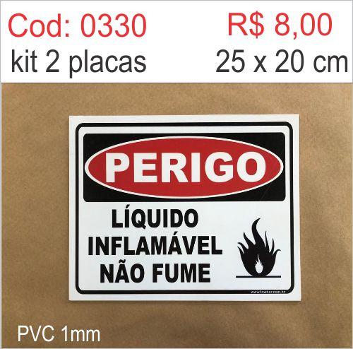 Saldão - Placa Líquido Inflamável Não Fume   - Towbar Sinalização de Segurança