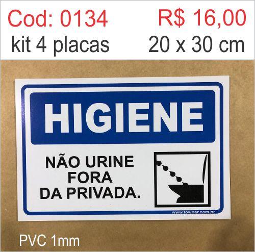 Saldão - Placa Não Urine Fora da Privada  - Towbar Sinalização de Segurança