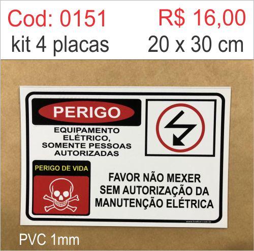 Saldão - Placa Perigo Equipamento Elétrico Somente Pessoas Autorizadas  - Towbar Sinalização de Segurança