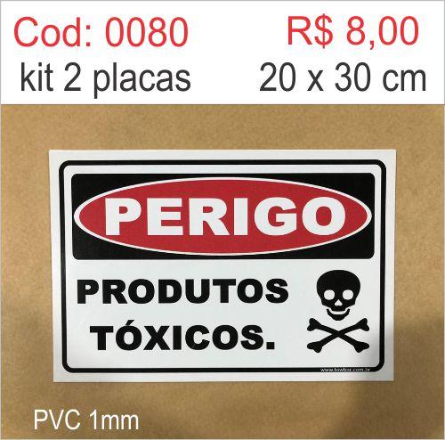 Saldão - Placa Perigo Produtos Tóxicos  - Towbar Sinalização de Segurança