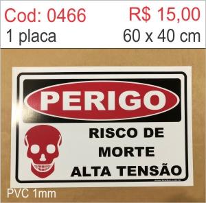 Saldão - Placa Perigo - Risco de morte alta tensão  - Towbar Sinalização de Segurança