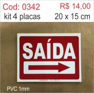 Saldão - Placa Saída  - Towbar Sinalização de Segurança