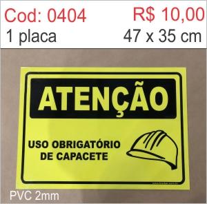 Saldão - Placa Uso Obrigatório de Capacete  - Towbar Sinalização de Segurança