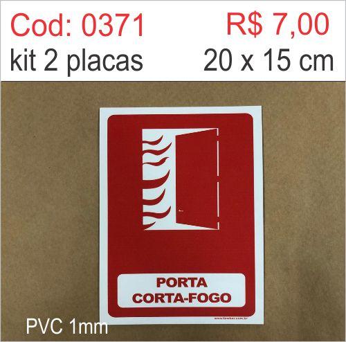 Saldão - Placa Porta Corta-Fogo  - Towbar Sinalização de Segurança