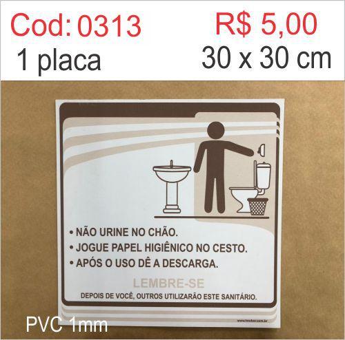 Saldão - Placa Procedimentos Sanitários Masculino  - Towbar Sinalização de Segurança