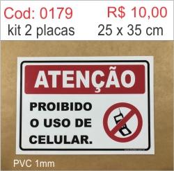 Saldão - Placa Proibido Uso de Celular  - Towbar Sinalização de Segurança