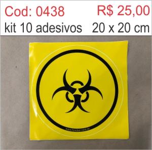 Saldão - Adesivo Radiação  - Towbar Sinalização de Segurança