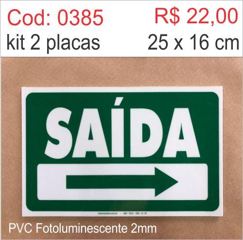 Saldão - Placa Saída para Direita  - Towbar Sinalização de Segurança
