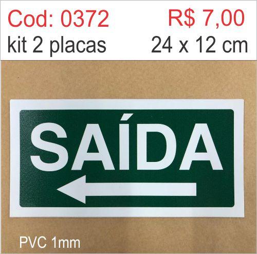 Saldão - Placa Saída Seta Esquerda  - Towbar Sinalização de Segurança