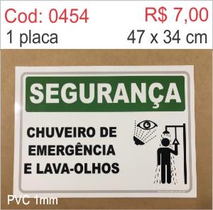 Saldão - Placa Segurança - Chuveiro de Emergência e Lava-olhos  - Towbar Sinalização de Segurança