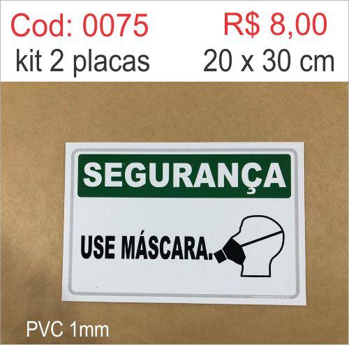 Saldão - Placa Segurança - Use Máscara  - Towbar Sinalização de Segurança