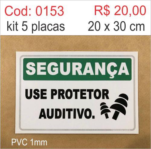 Saldão - Placa Segurança - Use Protetor Auditivo  - Towbar Sinalização de Segurança