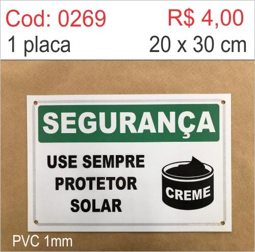 Saldão - Placa Segurança - Use Sempre Protetor Solar  - Towbar Sinalização de Segurança