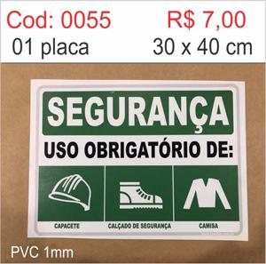 Saldão - Placa Segurança Uso Obrigatório de Capacete, Calçado de Segurança e Camisa  - Towbar Sinalização de Segurança