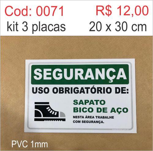 Saldão - Segurança - Uso Obrigatório de Sapato Bico de Aço   - Towbar Sinalização de Segurança