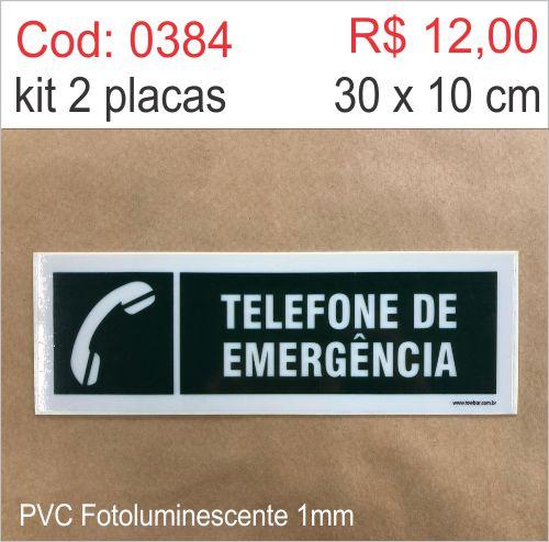 Saldão - Placa Telefone de Emergência  - Towbar Sinalização de Segurança
