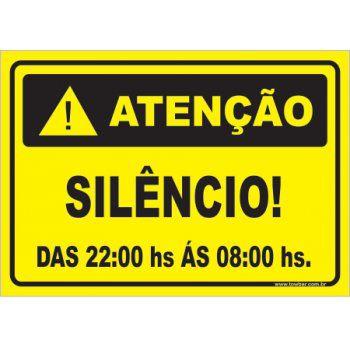 Silêncio Após As 22:00 Hs  - Towbar Sinalização de Segurança