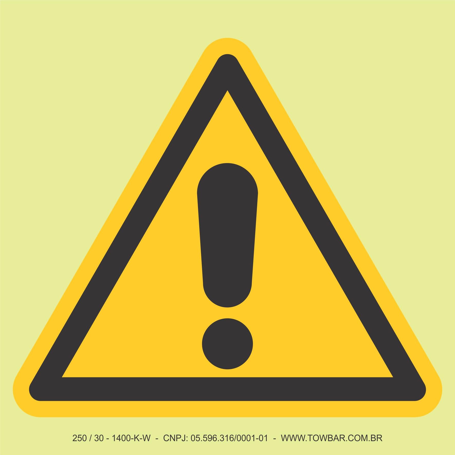 Sinal de Alerta Geral  - Towbar Sinalização de Segurança