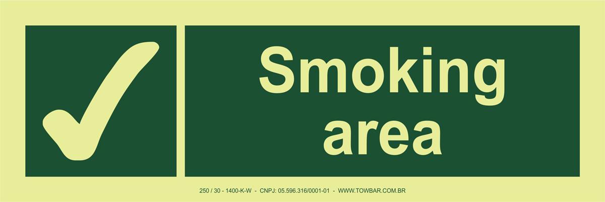 Smoking Area  - Towbar Sinalização de Segurança