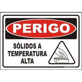 Sólidos a temperatura alta  - Towbar Sinalização de Segurança