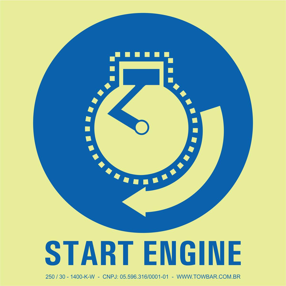 Start Engine  - Towbar Sinalização de Segurança