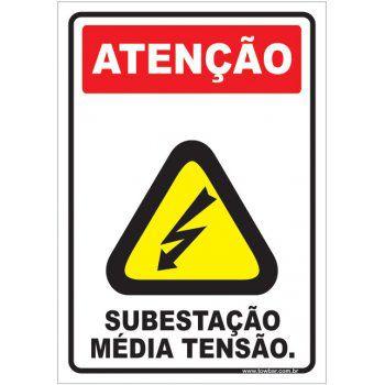 Subestação - Média Tensão.  - Towbar Sinalização de Segurança