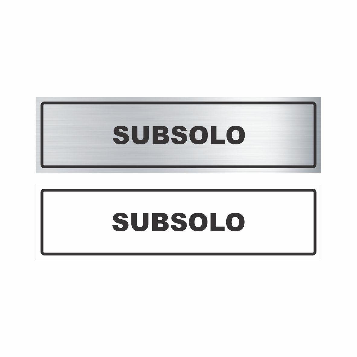 Subsolo  - Towbar Sinalização de Segurança