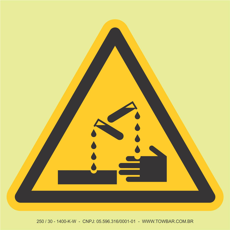 Substância Corrosiva  - Towbar Sinalização de Segurança