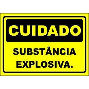 Substância Explosiva  - Towbar Sinalização de Segurança