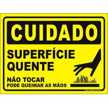 Superfície Quente, Não Toque!  - Towbar Sinalização de Segurança