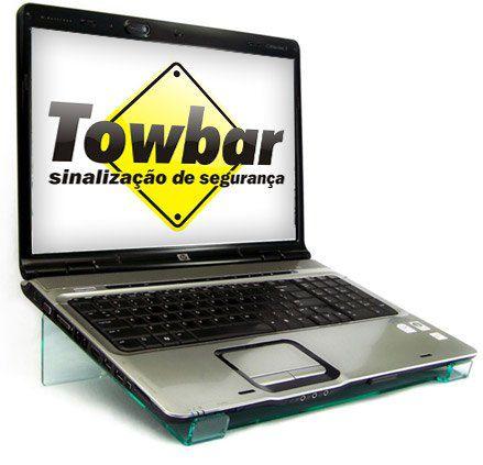 Suporte para notebook  - Towbar Sinalização de Segurança