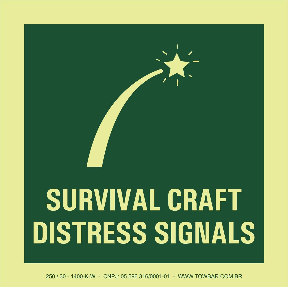 Survival Craft Distress Signals  - Towbar Sinalização de Segurança