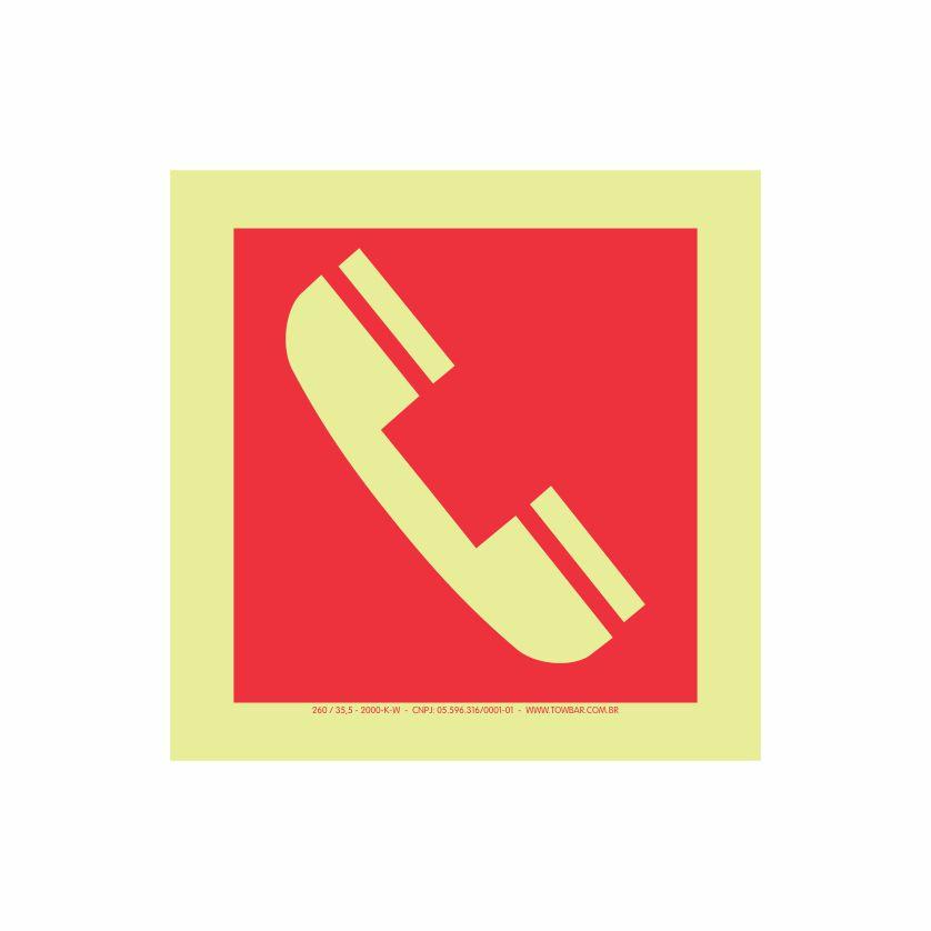 Telefone de Emergência  - Towbar Sinalização de Segurança