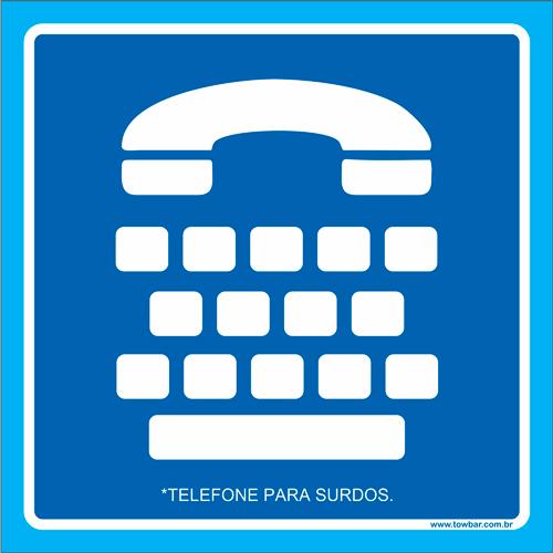 Placa telefone para surdos  - Towbar Sinalização de Segurança