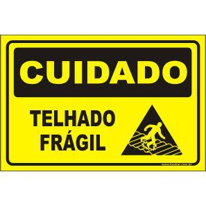 Telhado frágil  - Towbar Sinalização de Segurança
